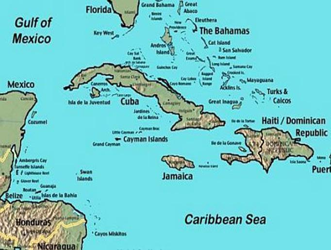 Invasive Species On Grand Cayman Sharon AdamWhitmore - Cayman islands map caribbean