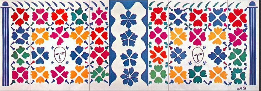 Henri Matisse, Large Decoration with Masks, 1952