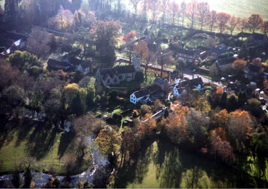 An Arial view of Clifford Chambers, by John Miller, 1998