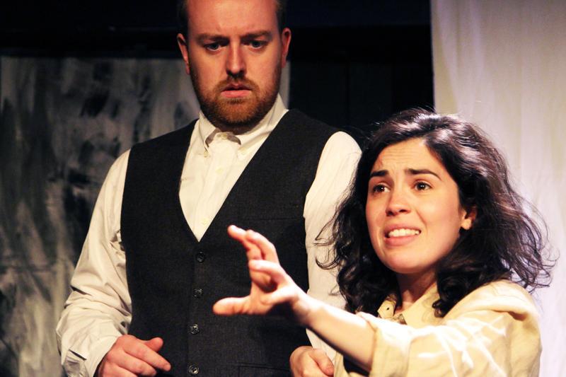 Robert Harding as the Wooer and Amy Tobias as the Jailer's Daughter. Photo credit Agnese Gutovska