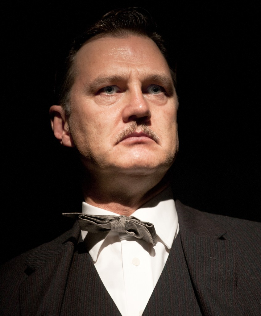 David Morrissey as Harry in Martin McDonagh's Hangmen, Royal Court Jerwood Theatre Downstairs.  Directed by Matthew Dunster. Photo credit, Simon Annand.