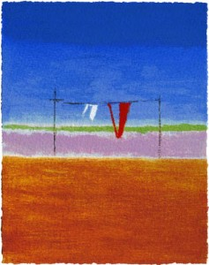 Craigie Aitchison – Washing Line at Montecastelli
