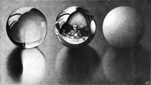 escher three spheres