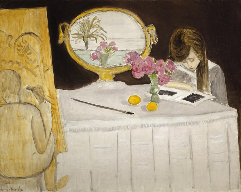 Henri Matisse La Leçon de peinture or La Séance de peinture [The Painting Lesson or The Painting Session], 1919 Oil on canvas: 73.40 x 92.20 cm Scottish National Gallery of Modern Art. Bequeathed by Sir Alexander Maitland 1965.