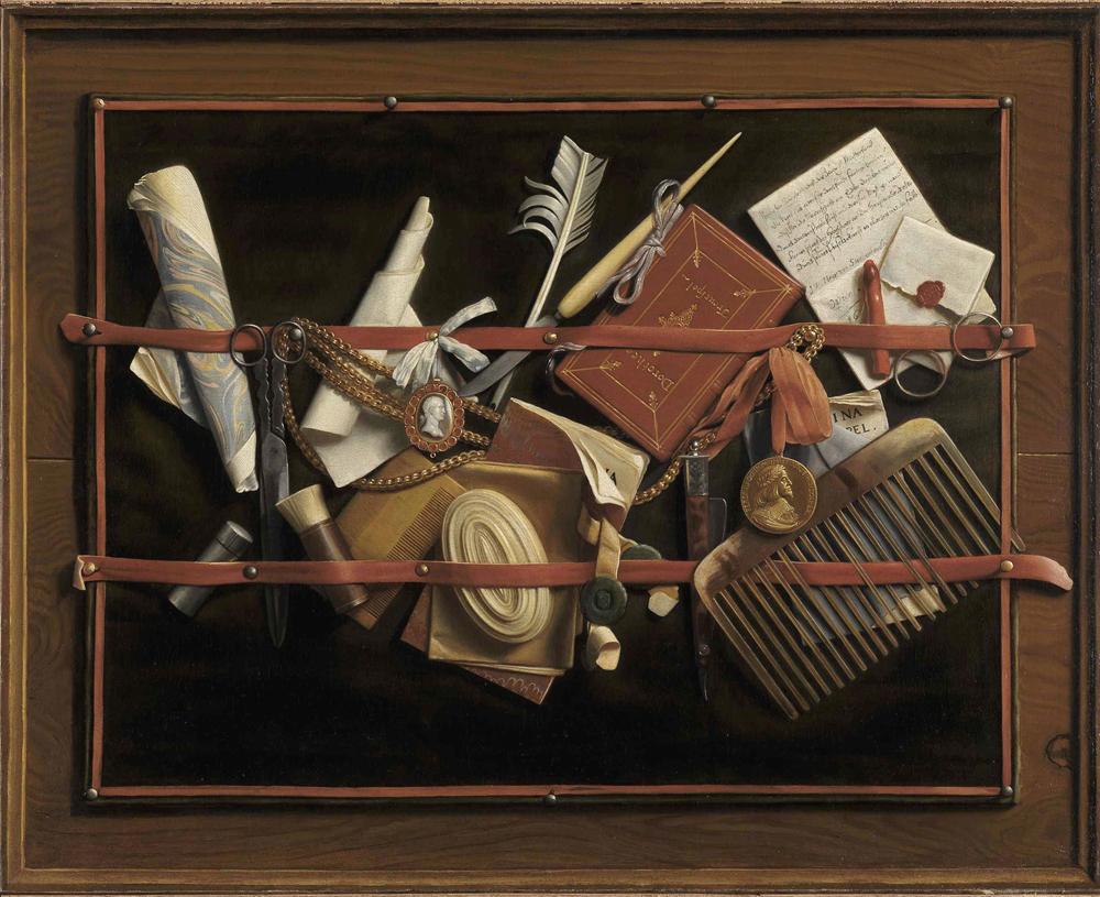 Samuel Van Hoogstraten Trompe-l'oeil (Still Life), 1966 Oil on canvas: 63 79 cm © bpk / Staatliche Kunsthalle Karlsruhe