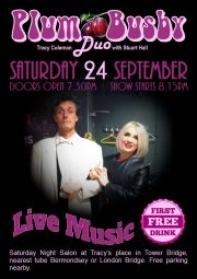 Plum Busby Duo, Saturday 24th September