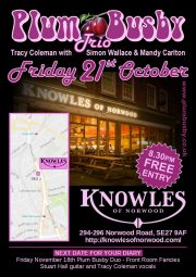 PlumBusby Trio at Knowles of Norwwod.