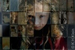 Girl in mirror : photomontage
