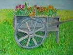 Wheelbarrow of flowers in Sussex, 2009