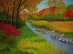 "A Fall View of Minnehaha Creek 18x24"", oil on canvas, 2011"