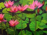 "Water Lilies 16x20"", oil on canvas, 2011"