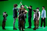 Adam Donen directs Ben Waring (playing Lord Kitchener) and assorted young performers (photo Magnus Arrevad).jpg