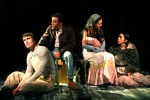 Patrick Mulryan (Jack), Ben Steinfeld (Baker), Claire Karpen (Cinderella), Emily Young (Little Red) by Catherine Ashmore.