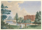 View of Merton House showing Lady Hamilton and Horatia in the grounds.jpg