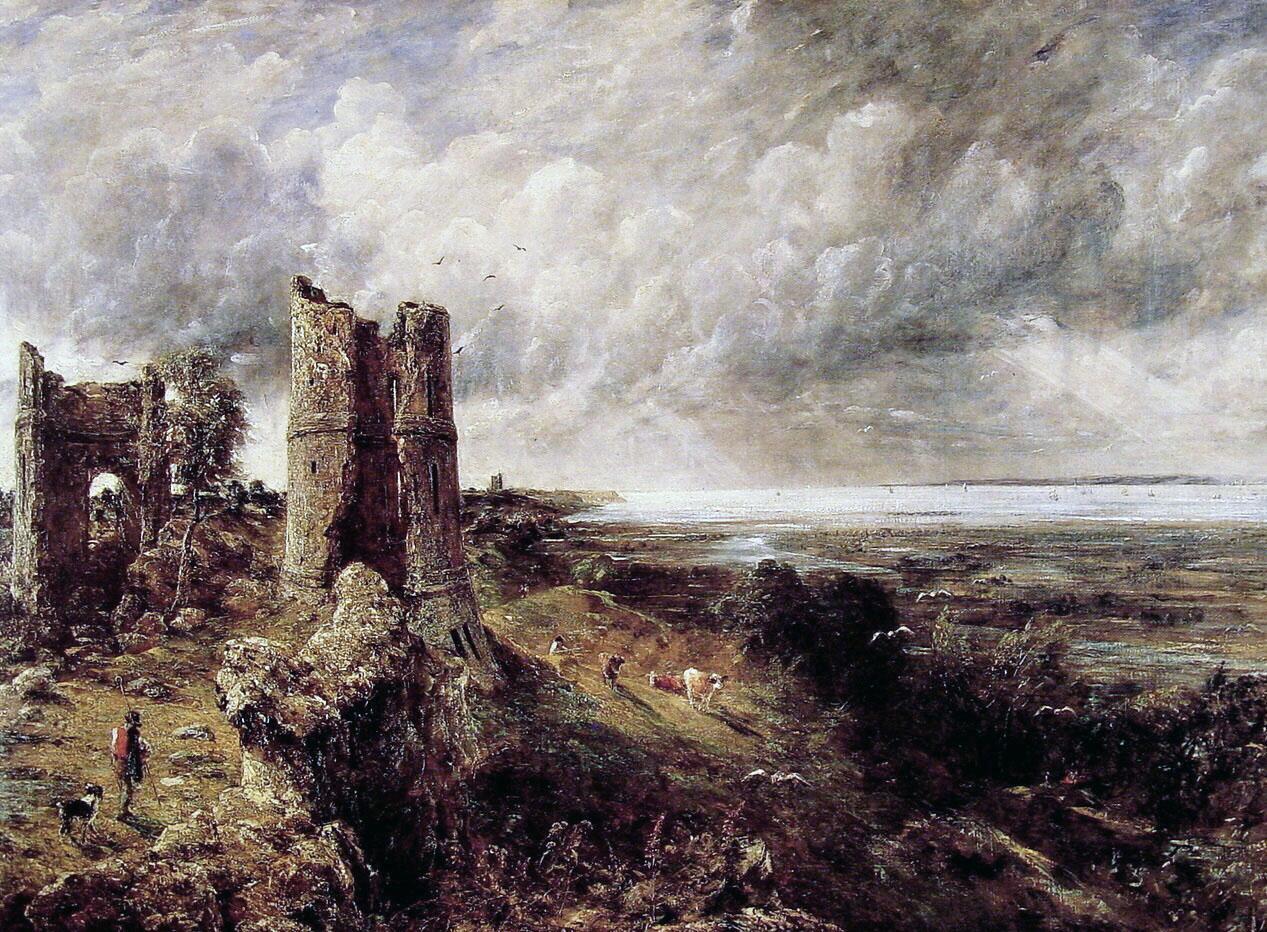 John Constable, oil sketch, 'Ruins of Hadleigh Castle,' 1828.