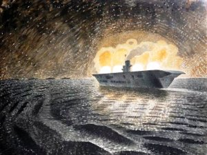 Eric Ravilious, HMS Ark Royal in action 1940
