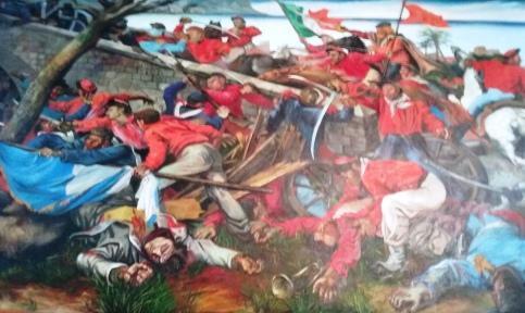 Renato Guttuso-The battle of ponte dell'ammiraglio