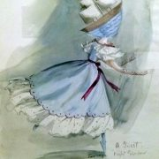 A Guest, costume design for Night Shadow, 1945