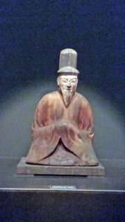 Seated male Shinto deity