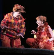 Aoife Miskelly as Vixen Lucia Cervoni as Fox The Cunning Little Vixen Photocredit Richard Hubert Smith 9771_cropped