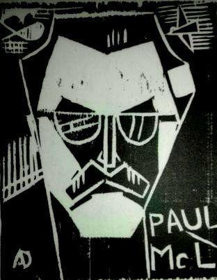 PAUL woodcut