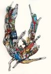 'Gasp'. Collage and ink. © Jennie Jewitt-Harris