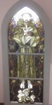 Stained glass,St Francis.jpg