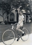 Ruby Keeler finds bicycling a great sport, 1934. Image by Scotty Welbourne. Courtesy of the Terence pepper Collection.