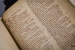 Domesday Book, on loan from The National Archives.