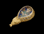 The Alfred Jewel, on loan from the Ashmolean Museum, Oxford.