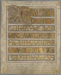 The Codex Aureus, on loan from Kungliga Biblioteket, Stockholm.