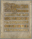 The Codex Aureus, on loan from Kungliga Biblioteket, Stockholm.