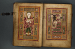 The MacDurnan Gospels, on loan from Lambeth Palace Library.