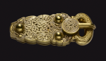 The Sutton Hoo gold buckle, on loan from the British Museum.