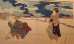 Two women on the beach at Enoshima.jpg