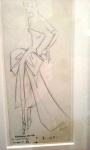 Dior sketch evening dress.