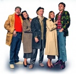 2. Tom Bennett: Del Boy, Dianne Pilkington: Raquel, Paul Whitehouse: Grandad, Pippa Duffy: Cassandra, Ryan Hutton: Rodney, credit - Oliver Rosser, Feast Creative.