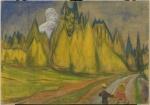 Edvard Munch. To barn på vei til eventyrskogen. Credit: Munchmuseet