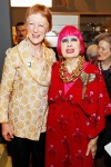 Heather Tilbury Phillips and Dame Zandra Rhodes attend the opening of Swinging London A Lifestyle Revolution. Copyright Fashion and Textile Museum.