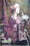 Antonio Mancini, Enrica in purple (1920).