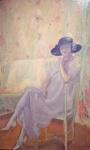 Camillo Innocenti, Purple Dress (1923).