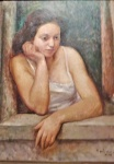 Contardo Barbieri, Girl at the window (1935).