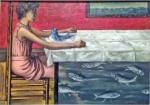 La Truite au bleu (poached trout), 1952.