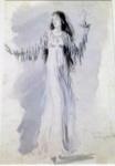 The sleepwalker, costume design for Night Shadow, 1945.