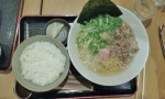 Ramen and rice.