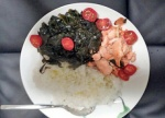 seaweeds salmon and rice.