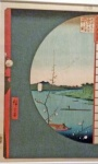 Hiroshige, View of MSuijin Shrine from Massaki.