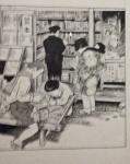 Reading manga.