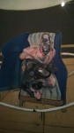 Bacon_Study for portrait on folding bed.