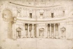 Drawing of the Pantheon.